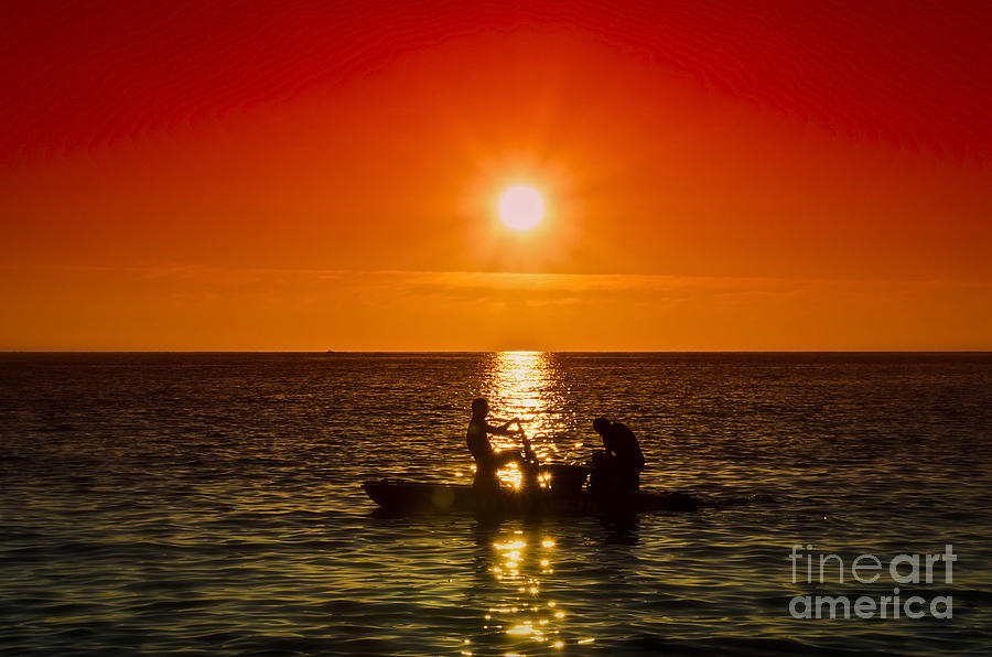 Sunset Photograph - Back To Home by Alessandro Giorgi Art Photography