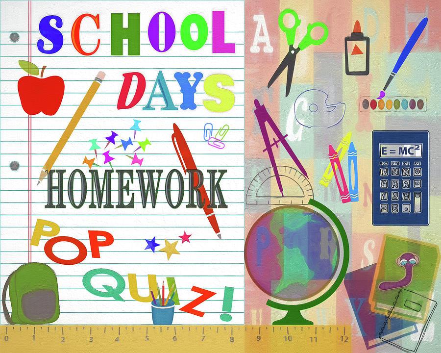 Back To School Collage Digital Art By Steve Ohlsen