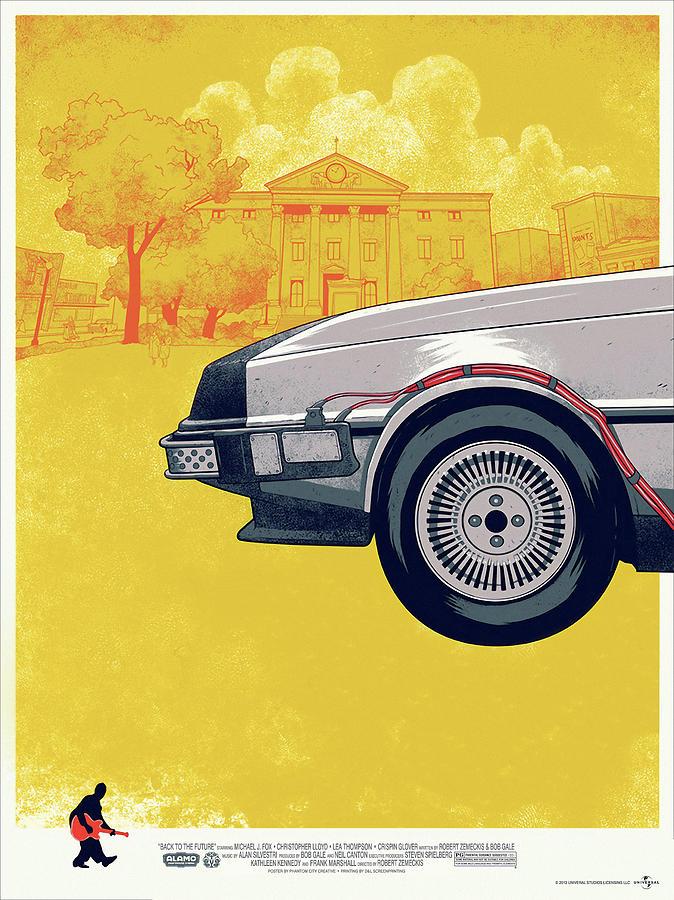 Movie Digital Art - Back To The Future Delorean Part 1 by Geek N Rock