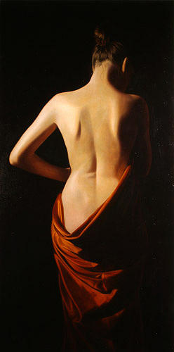 Female Painting - Back by Toby Boothman
