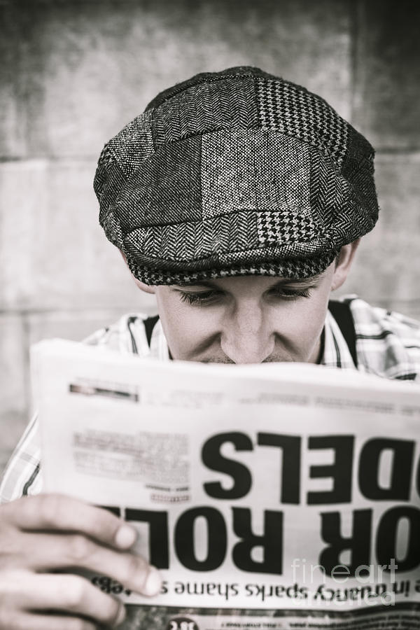 Media Photograph - Back When News Was True by Jorgo Photography - Wall Art Gallery