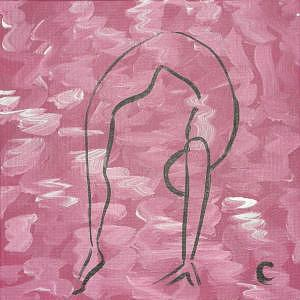 Yoga Pose Painting - Backbend by Christina Wilson