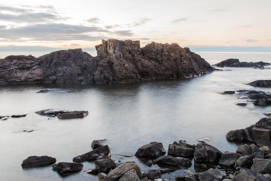 Lake Superior Photograph - Backbone At Sundown by Tim Beebe