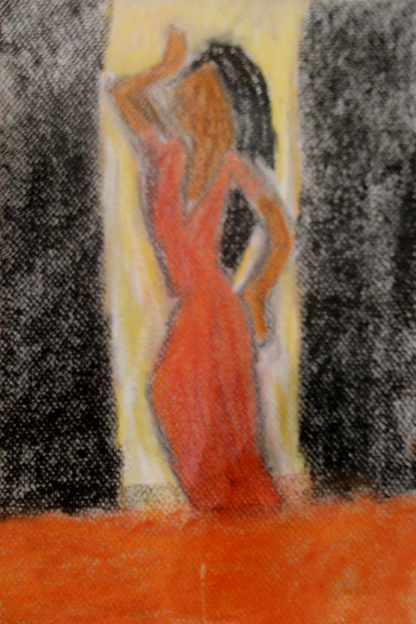 Pose Drawing - Backlit by Annie Dameron