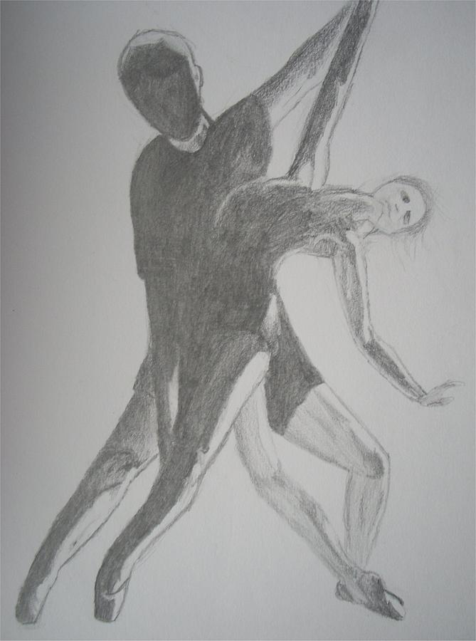 Ballet Drawing - Backlit Ballet by Katie Gilbert