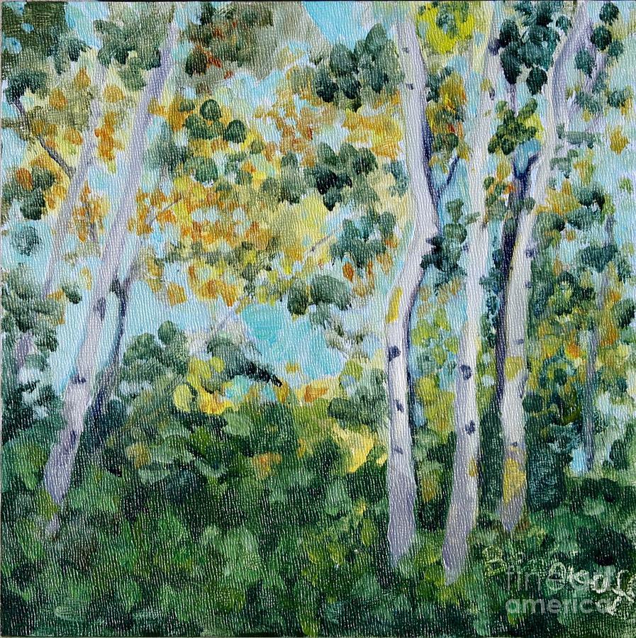 Backlit Birches by Jan Bennicoff