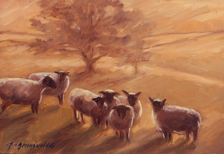 Backlit Flock Painting by Ruth Stromswold