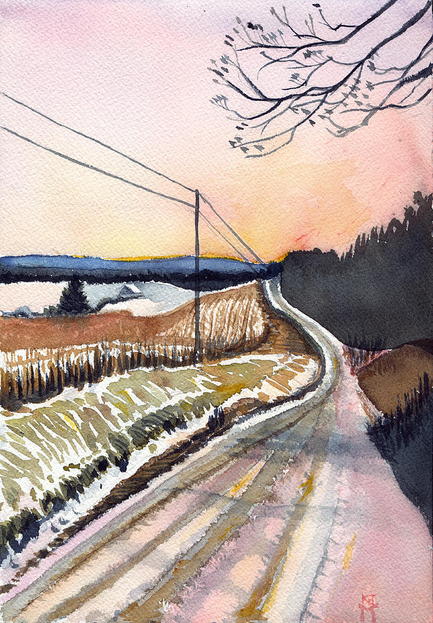 Backlit Roads by Katherine Miller