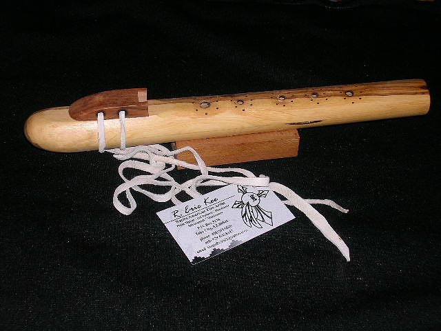 Native American Flute Sculpture - Backpack Flute by R Eric Kee