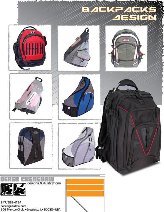 Backpacks Digital Art by Derek Crenshaw
