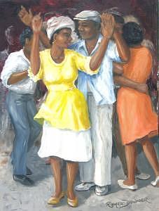 Dancing Painting - Backroom Ballroom by Romeo Downer