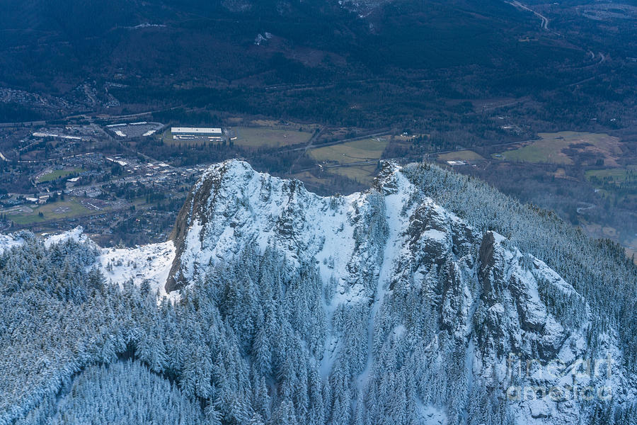 Northwest Photograph - Backside of Mount Si by Mike Reid