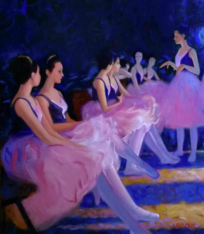 Dancers Painting - Backstage by Kevin Lawrence Leveque