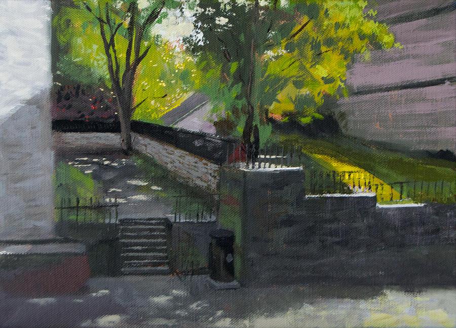 Backyard Painting - Backyard by Arild Amland