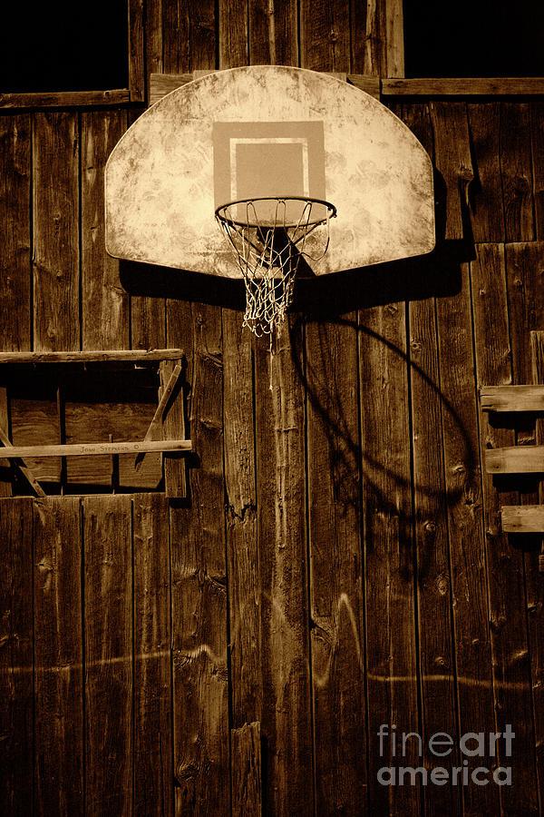 Vintage Backyard Basketball Hoop Photograph by John Stephens