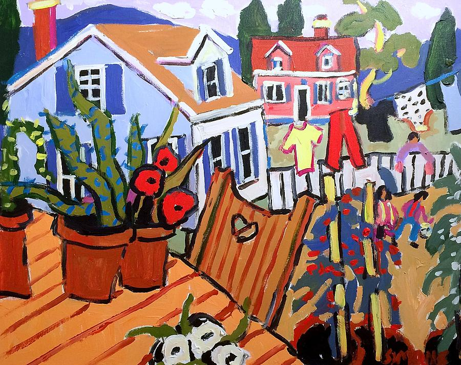 Brian Simons Painting - Backyard by Brian Simons