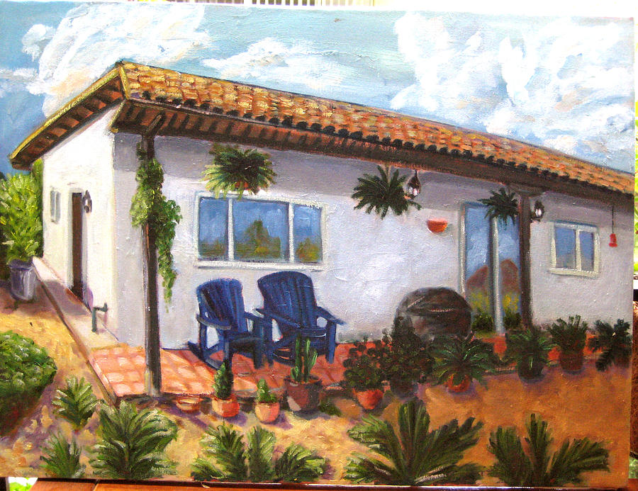 Landscape Painting - Backyard In Fallbrook by William Kairala