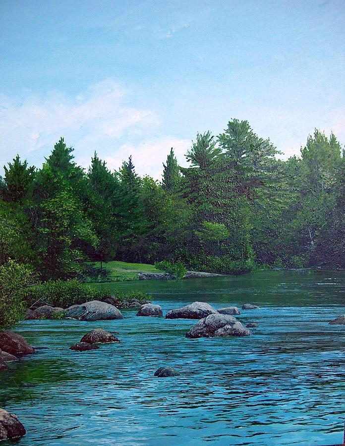Landscape Painting - Backyard by Richard Ong