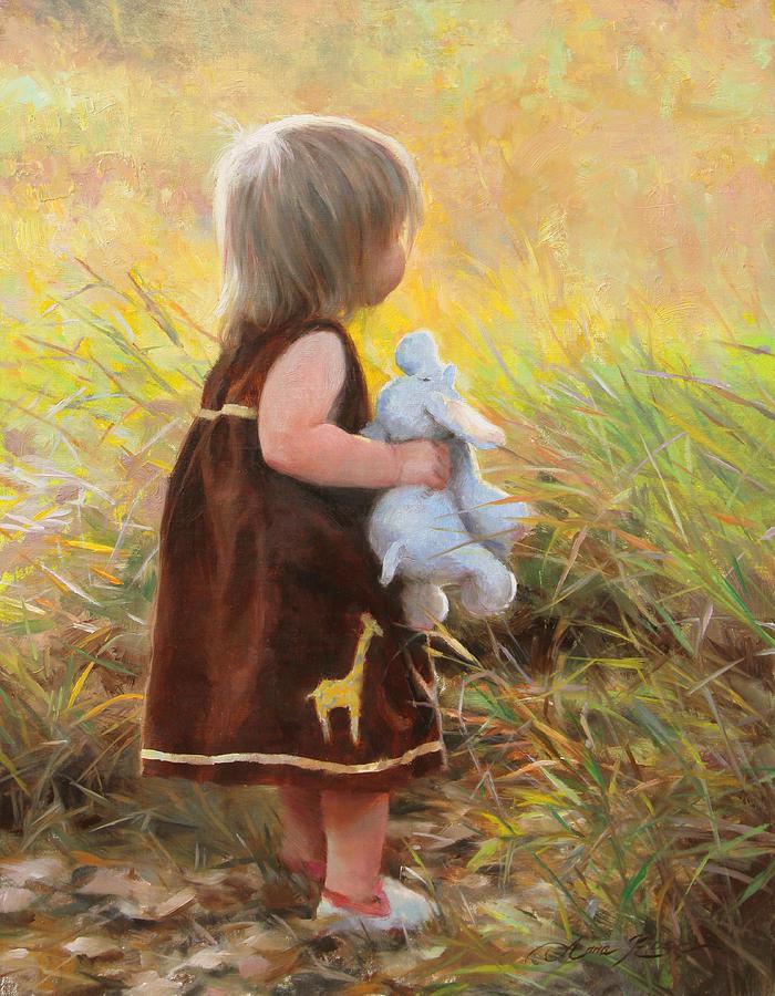 Safari Painting - Backyard Safari by Anna Rose Bain