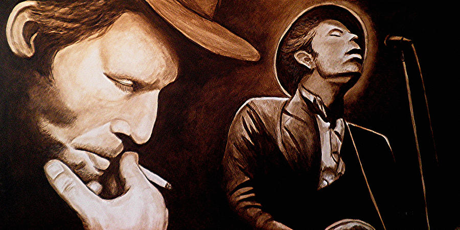 Tom Waits Painting - Bad As Me by Al  Molina