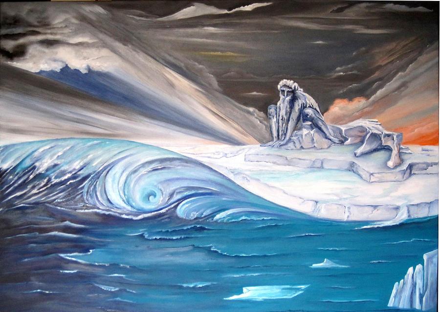 Ice Painting - Bad Awakening  by Daniela Giordano