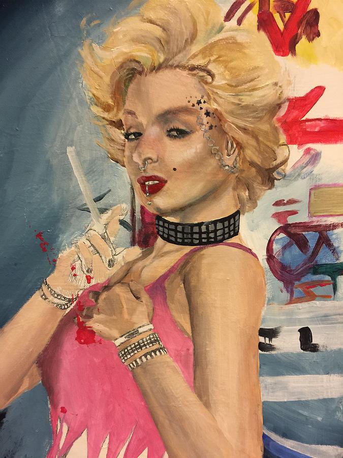 Marilyn Monroe Painting - Bad Girl Wip by Baroquen Krafts