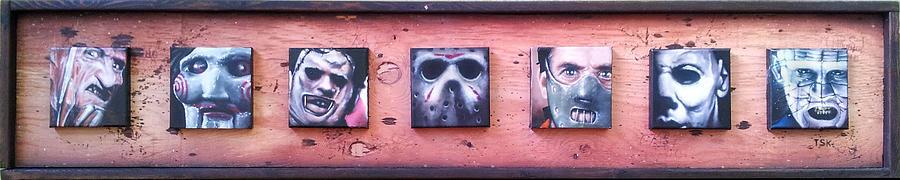 Freddy Painting - Bad Guys by Jeremy Hamilton