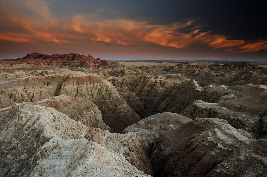 South Dakota Photograph - Badlands by Eric Foltz