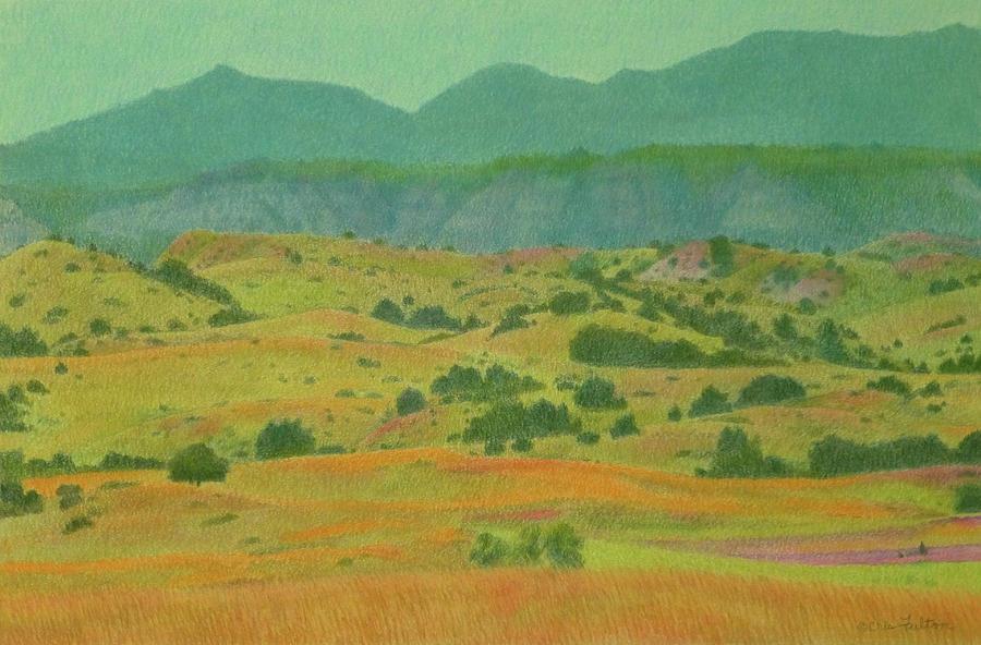 North Dakota Pastel - Badlands Grandeur by Cris Fulton