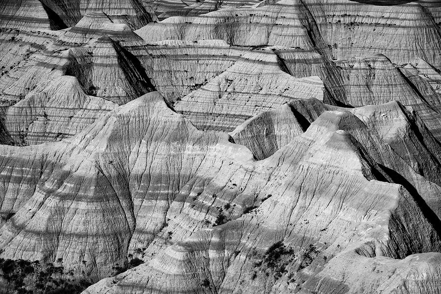 Badlands in black and white by Andy Crawford