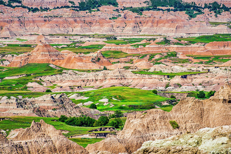 Badlands National Park vista by Andy Crawford