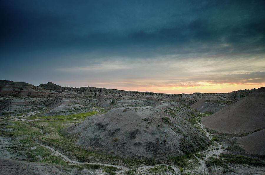 Badlands Sunset Photograph