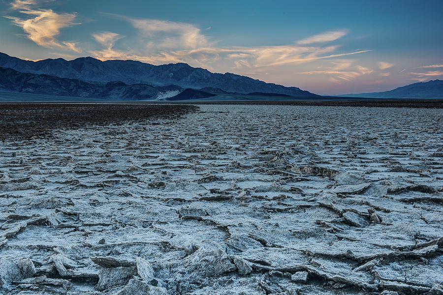 Badwater Basin at Sunrise by George Buxbaum