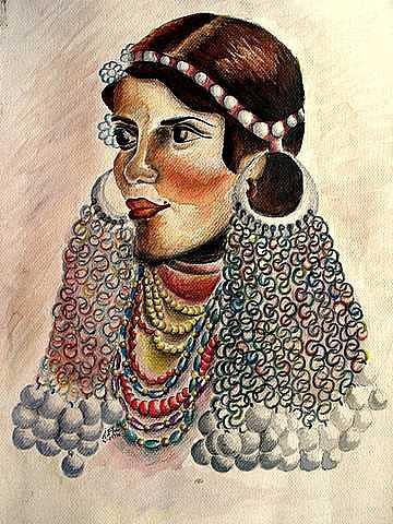 Badwiya Mixed Media by Samah Fahmy