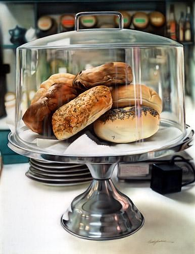 Acrylic Paintings Painting - Bagel Daze by Keith  Goodson