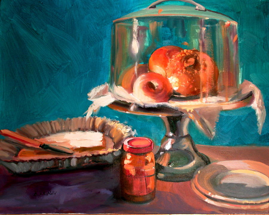 Still Life Painting - Bagels by Anne McNally