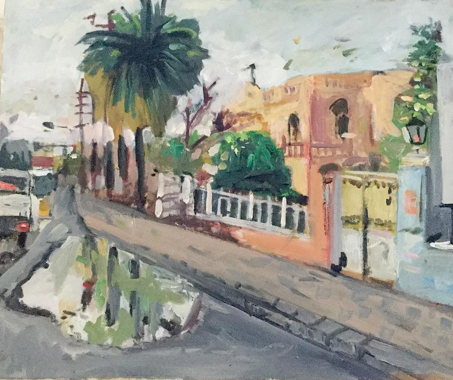 Landscape Painting - Baghdad Old House by Montasir Wali