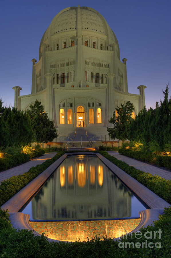 Bronstein Photograph - Bahai Temple by Sandra Bronstein
