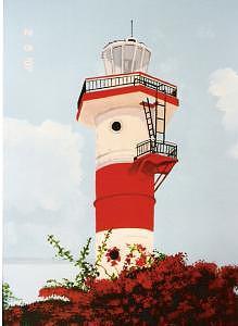 Lighthouse Painting - Bahama Lighthouse by David Ellis