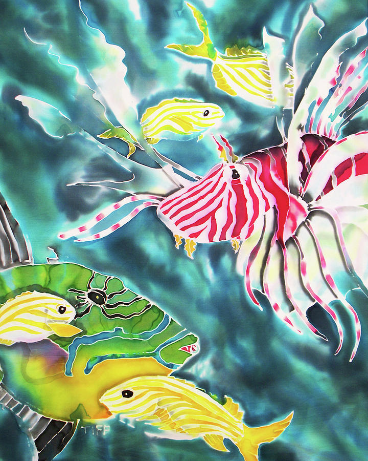 Trigger Fish Painting - Bahamaian Delicacies by Tiff