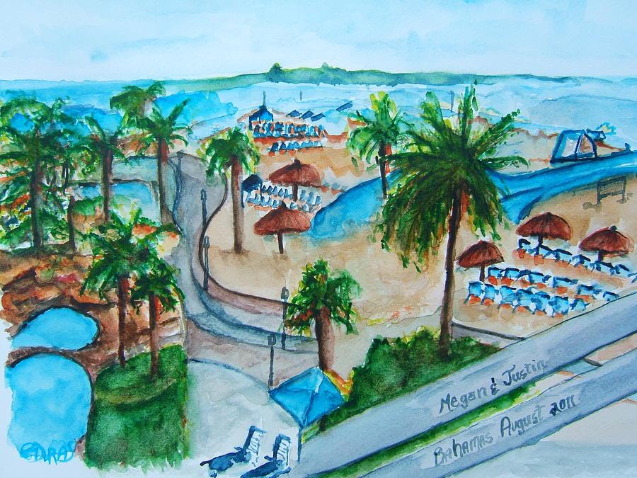 Painting - Bahamas Balcony by Elaine Duras