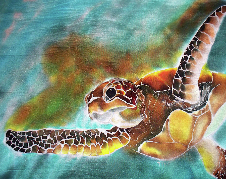Green Turtle Painting - Bahamian Turtle Dove by Tiff
