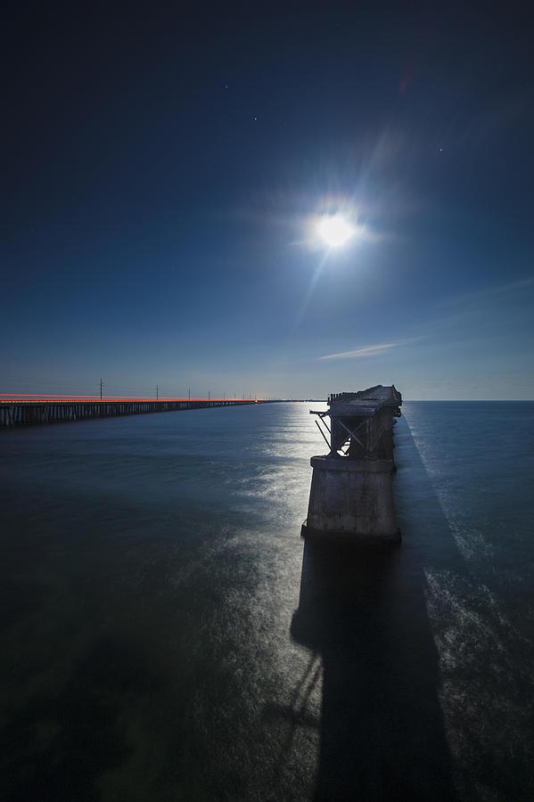 Key West Photograph - Bahia Honda By The Moonlight by Dan Vidal