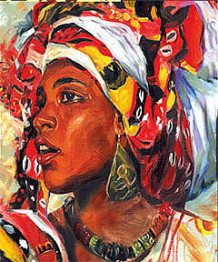 Bahiana From Brazil Painting by Wendell Wiggins