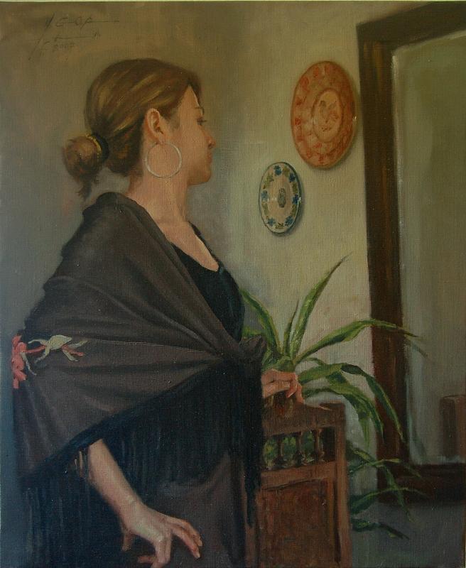 Bailaora Painting by Carlos Ygoa