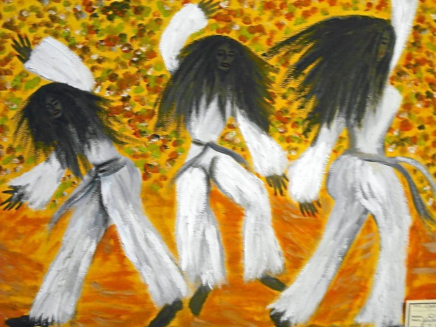 Dancers Painting - Bailar N Los Blanco  by BJ Abrams
