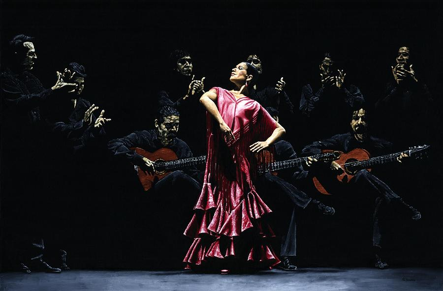 Flamenco Painting - Bailarina Orgullosa Del Flamenco by Richard Young