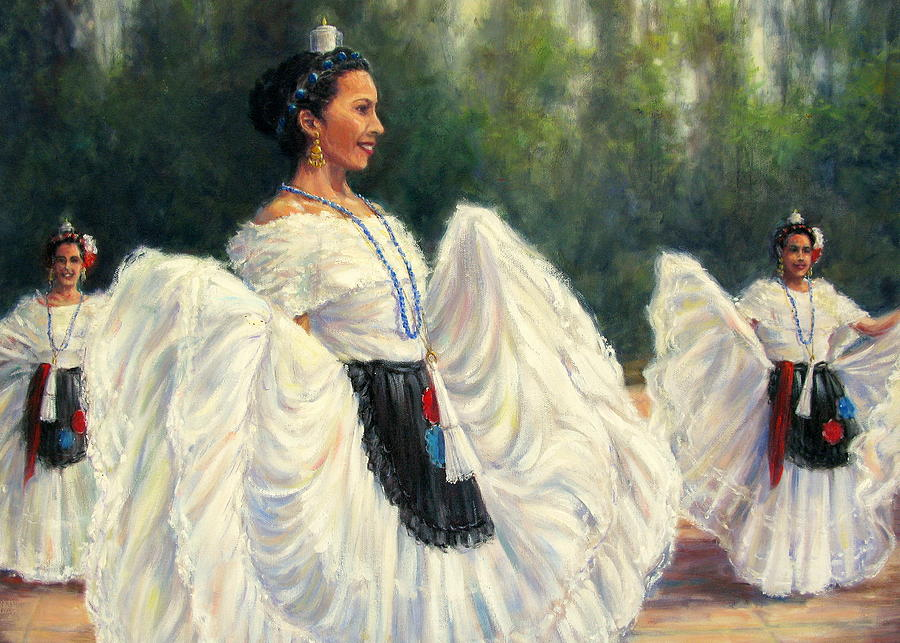 Mexican Painting - Baile de Las Velas - Candle Dance by Vickie Fears