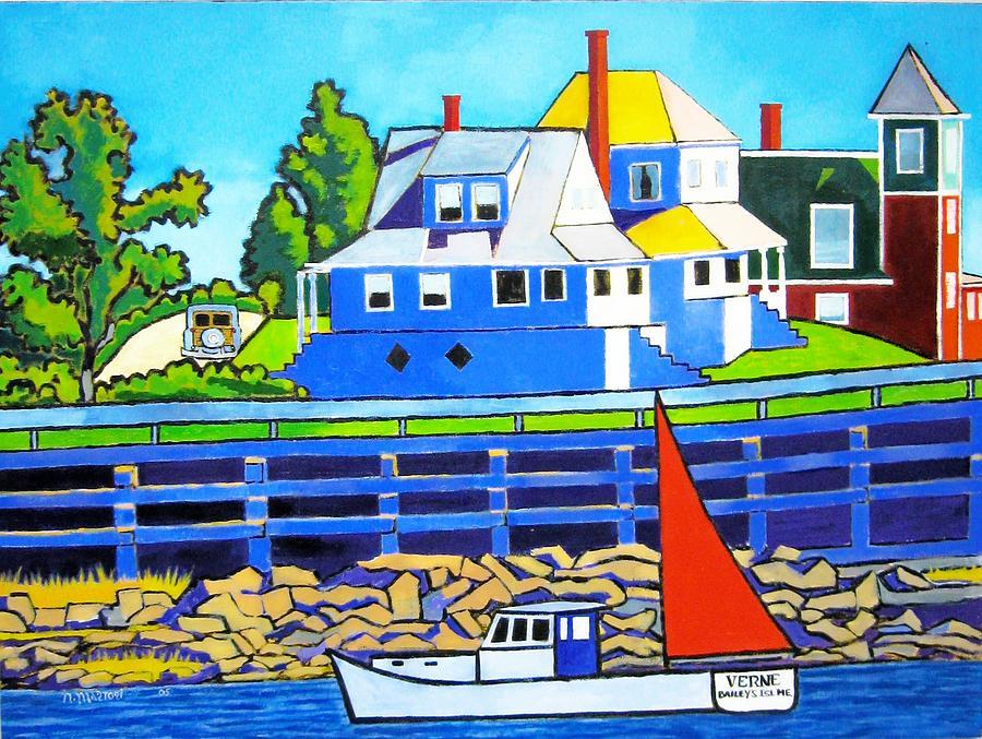 Maine Painting - Baileys Island by Nicholas Martori