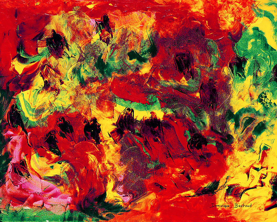 Abstract Painting - Bain De Soleil by Dominique Boutaud